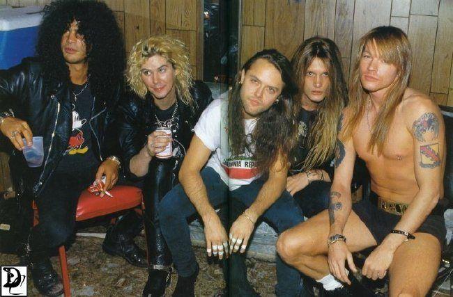 Poze Poze Guns N Roses - Slash-Duff-Lars-Bach-Axl