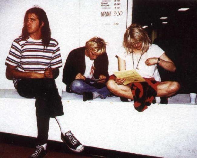 Poze Poze Nirvana - dave, kurt and courtney