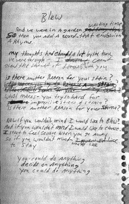 Poze Poze Nirvana - early blew lyrics
