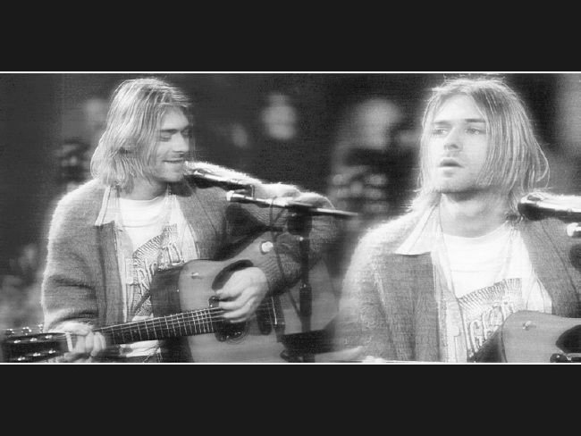 Poze Poze Nirvana - kurt unplugged