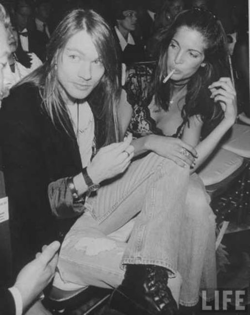 Poze Poze Guns N Roses - Axl and Stephanie