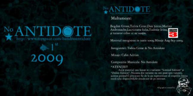 Poze Poze No Antidote - 1st Inside Cover