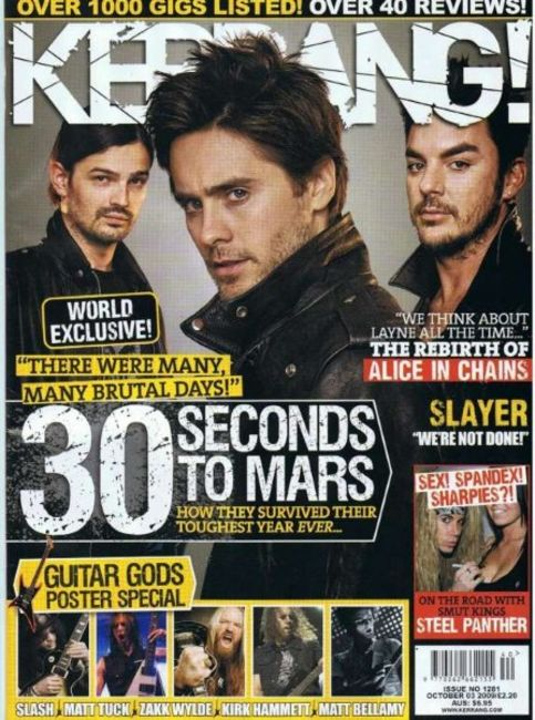 Poze Poze 30 Seconds to Mars - 30STM pe coperta revistei Kerrang 2009