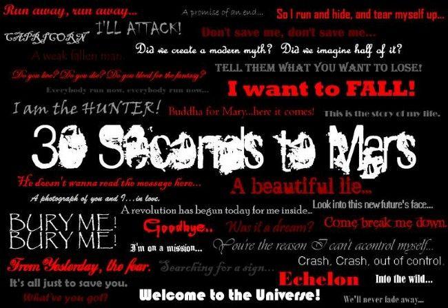 Poze Poze 30 Seconds to Mars - 30 Seconds To Mars lyrics