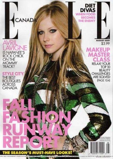 Poze Poze Avril Lavigne - Avril Lavigne pe coperta Elle Canada
