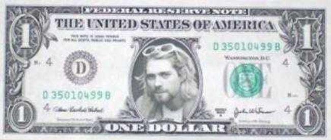 Poze Poze Nirvana - kurt one dollar