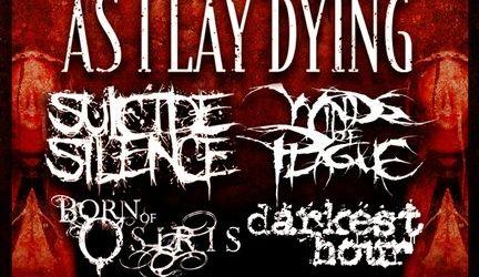As I Lay Dying vor fi cap de afis la California Metalfest