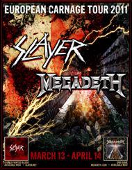 Slayer si Megadeth pornesc in turneu european