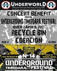 Concert Recycle Bin si Coercion in Underworld Bucuresti