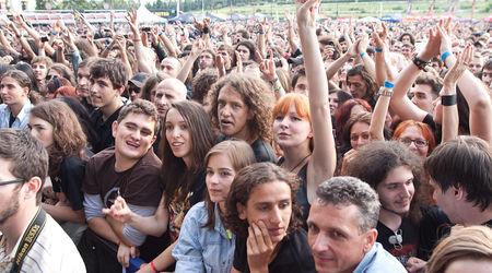 Poze cu publicul la Rock The City