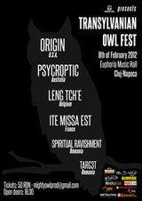 Transylvanian Owl Fest miercuri la Euphoria Music Hall Cluj