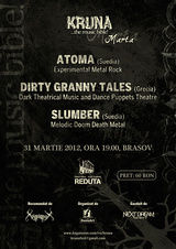 Kruna Marta: detalii despre concertul ATOMA, DIRTY GRANNY TALES si SLUMBER