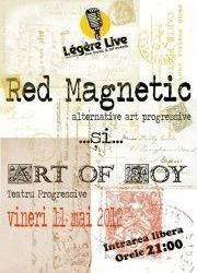 Concert Red Magnetic & Art of Joy in club Legere Live