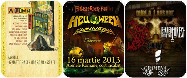 Recomandari concerte rock si metal in weekend (15 -17 martie)