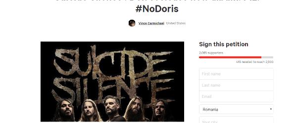 A fost lansata o petitie impotriva noului album Suicide Silence