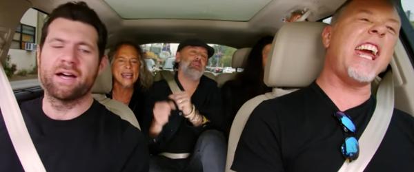 Metallica vor canta 'Diamonds' de la Rihanna la 'Late Late Show'