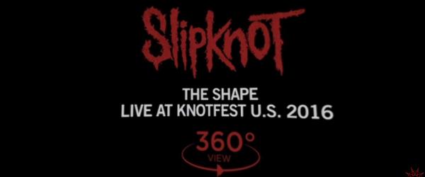 Slipknot a lansat un clip live 360 pentru piesa 'The Shape'
