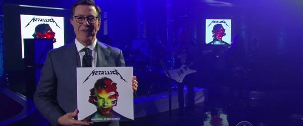 Metallica au cantat in emisiunea lui Stephen Colbert