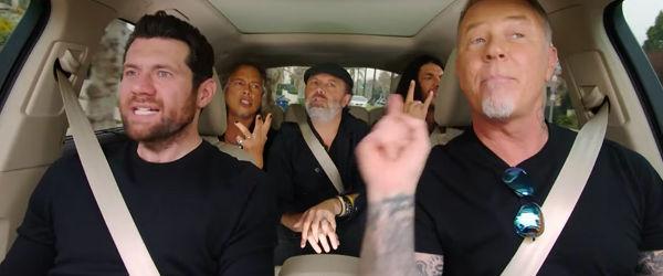 Metallica invitata in noul episod al seriei 'Carpool Karaoke'