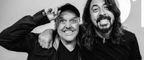 Lars Ulrich i-a luat un interviu lui Dave Grohl - video