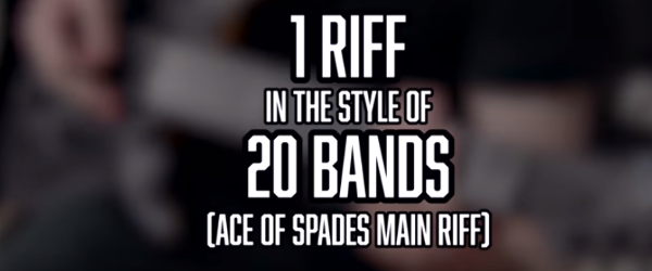 Cum ar suna rifful Ace of Spades in stilul altor 20 de formatii rock si metal
