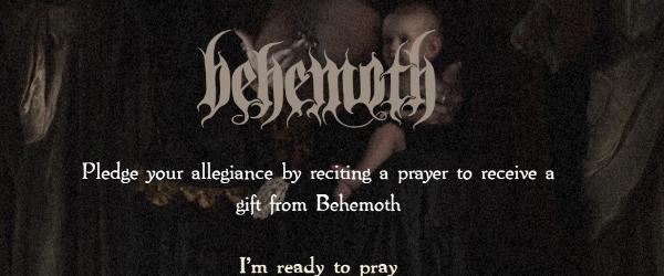 Vrei sa asculti ceva nou de la Behemoth? Trebuie sa spui o rugaciune