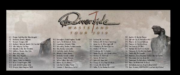 Riverside pleaca in turneu si ajung si la Soundart