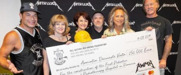 Metallica a donat 1.5 milioane de euro in timpul turneului din Europa
